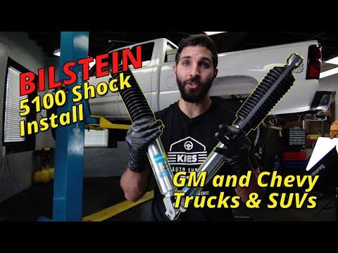 How to Replace Front & Rear Truck Shocks – Bilstein 5100 – 2004 Chevy Silverado GMC Sierra 1500 2500