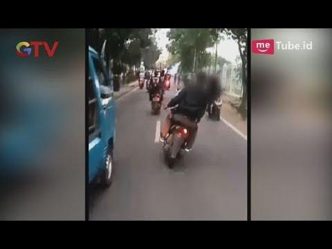 Video Amatir Aksi Brutal Geng Motor yang Meresahkan Warga & Membahayakan Pengendara Lain - BIM 28/05