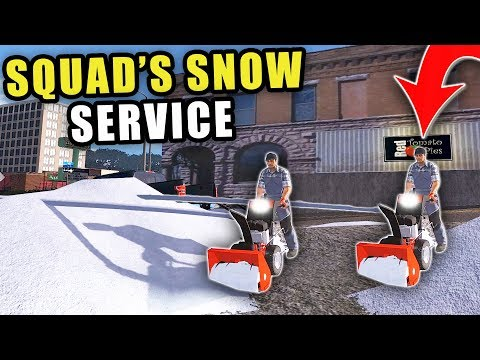 SQUAD'S SNOW REMOVAL COMPANY! BUSTING THROUGH DEEP DRIFTS WITH OUR NEW SNOWBLOWER