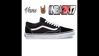 NBA 2K17 Schuh Hat Vans LowTop-Schuh Hat