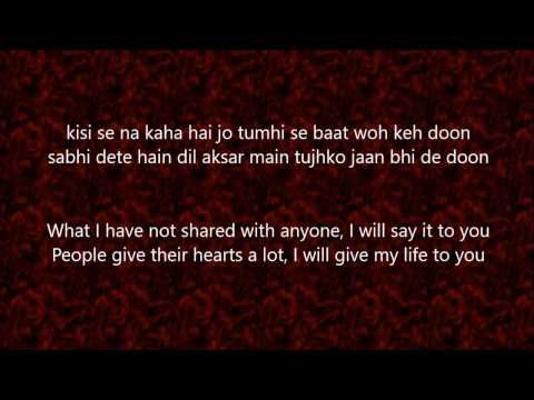 Tashan-e-ishq Song - Lyrics And Translation