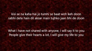 Tashan-e-ishq Song - Lyrics and Translation