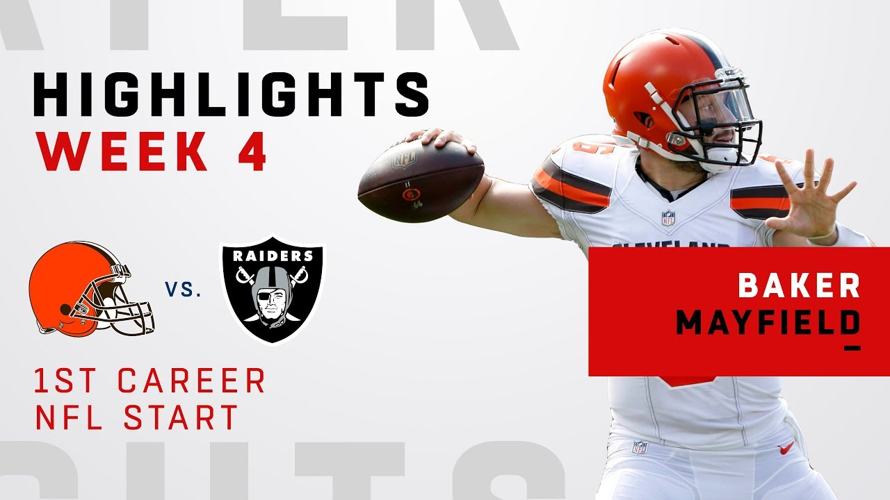 824f1fb2b Baker Mayfield Highlights in First Career NFL Start! - YouTube