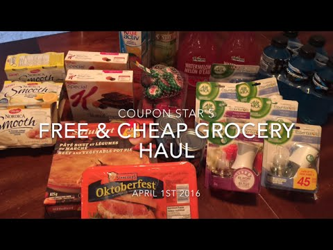 FREE & CHEAP GROCERY HAUL! CANADIAN COUPONING!