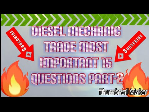 Download Diesel mechanic trade related 15 questions