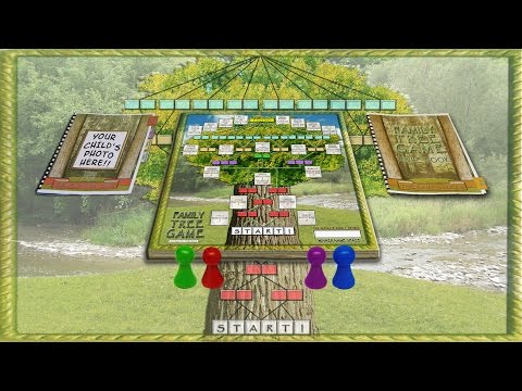 Customize Your Own Family Tree Genealogy Board Game