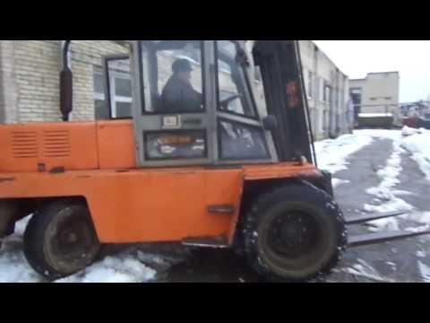 Львовский дизельный вилочный погрузчик пятитонник, 2010 года выпуска
