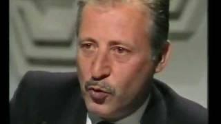 Intervista A Paolo Borsellino - Tsi Televisione Svizzera 1992 (completo)