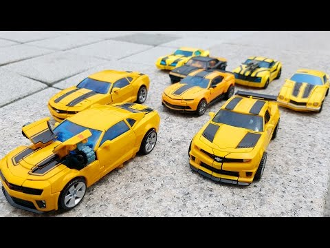 Transformers Autobots Bumblebee 8 Vehicle Transformation Robot Car Toys 트랜스포머 오토봇 범블비 8대 장난감 변신 동영상