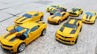 Transformers Autobots Bumblebee 8 Vehicle Transformation Robot Car Toys 트랜스포머 오토봇 범블비 8대 장난감 변신 동영상