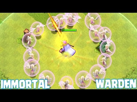 Clash Of Clans - IMMORTAL GRAND WARDEN!! | DOESN'T DIE WITH ALL HEALERS!!! | Epic Gameplay!!!