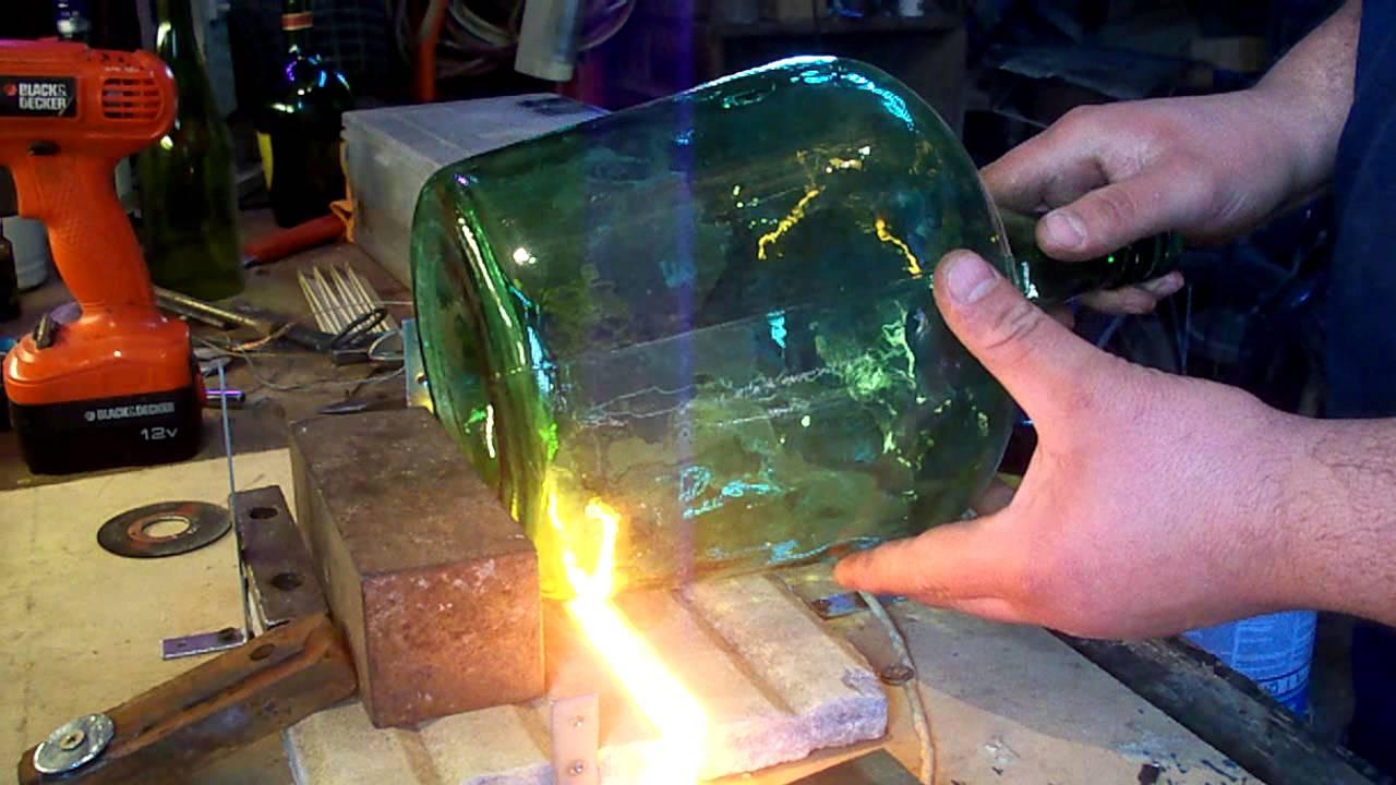 Como cortar una damajuana fasilmente youtube - Como decorar copas de cristal ...