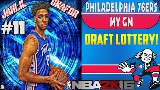 Nba 2k16 philadelphia 76ers my gm ep. #11 - draft lottery! first pick hype?!?