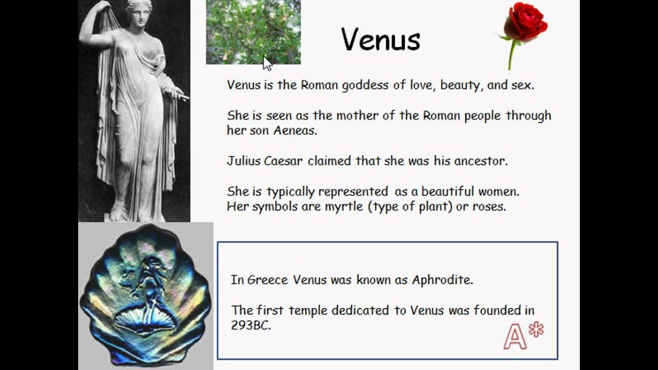 Venus - Roman Goddess - YouTube