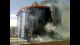 حريق بالمقر الجديد لمؤسسة الكهرباء والغاز. باتنة