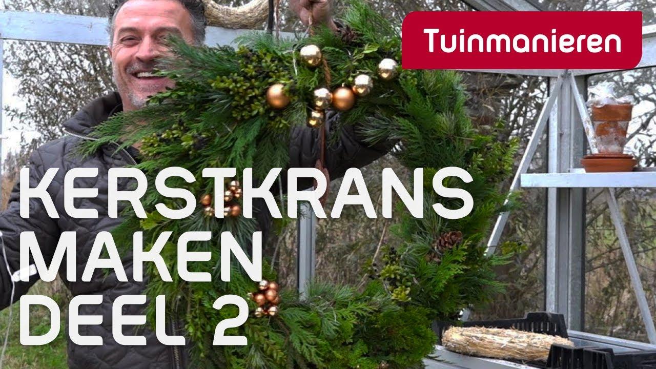 Uitgelezene Kerstkrans maken deel 2. - YouTube TQ-61