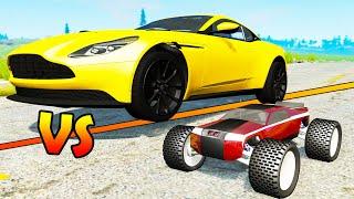 R/C Cars vs Big Cars #2 - Beamng drive