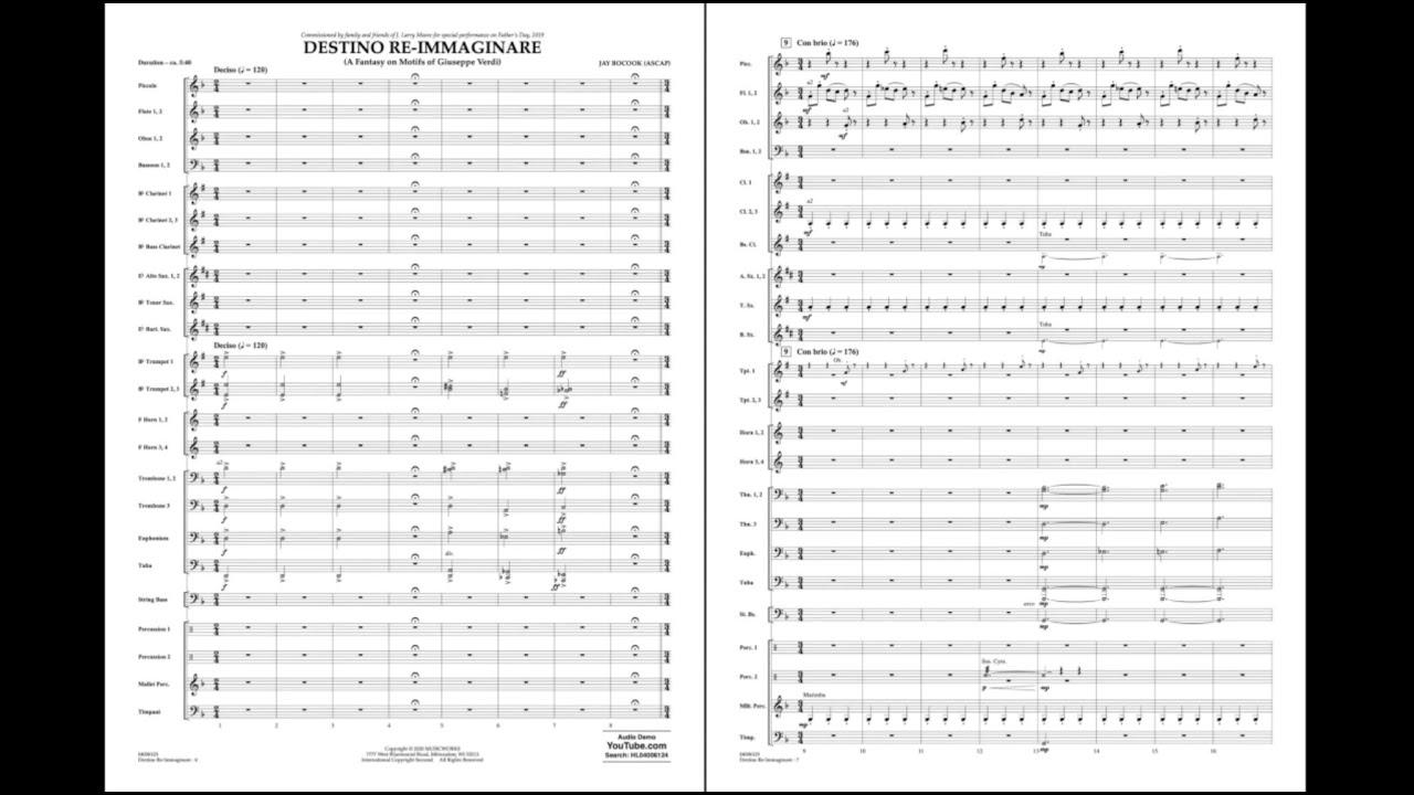 Destino Re-Immaginare (A Fantasy on Motifs of Giuseppe Verdi) by Jay Bocook