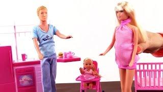 Видео для детей Кукла Штеффи и ее семья