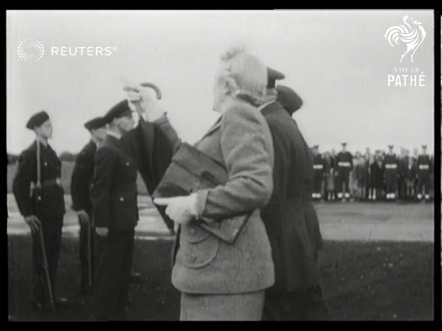 Churchill visits Biggin Hill Airfield during Battle of Britain Week (1947)