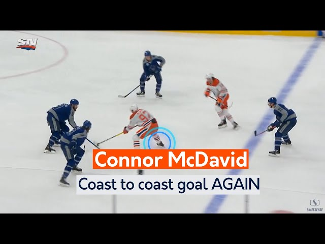 Connor McDavid | Coast to coast goal AGAIN vs Toronto Maple Leafs (Inside Edge)