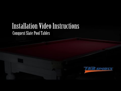 How to assemble/install a Slate Pool Table from T&R Sports(trsports tr-sports)?