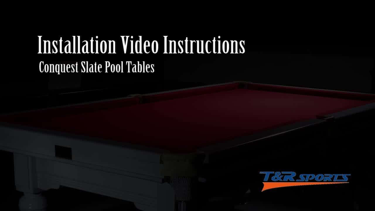how to a slate pool table from tu0026r trsports youtube - Slate Pool Table