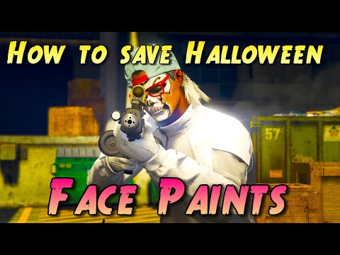 GTA Online - How to save Halloween face paints | PS4 Pro