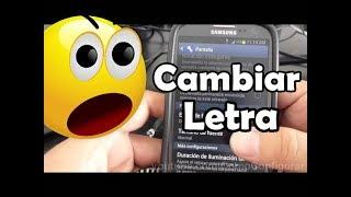 Cómo cambiar el tipo de letra en un móvil Samsung Galaxy S3 español