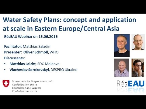 Webinar on Water Safety Plans - YouTube