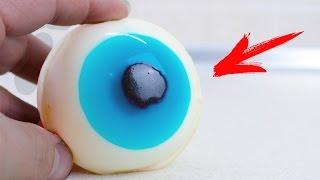 DIY Как сделать  желейный Глаз На Хеллоуин(Как сделать желейный Глаз На Хелоуин. Рецепт желе очень прост - 400 грамм молока и 25 грамм желатина. Группа..., 2016-10-28T11:07:24.000Z)