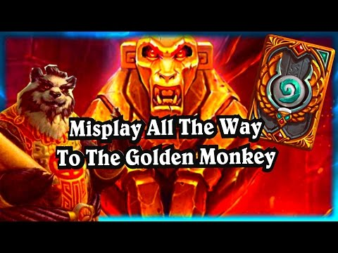Misplay to Golden Monkey ~ Hearthstone The League of Explorers Video