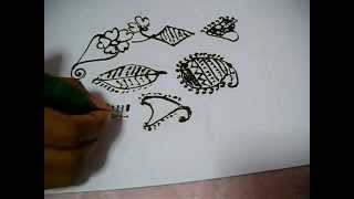 Basic mehandi designs for beginners Thumbnail