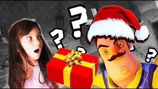 ПОДАРОК от ПРИВЕТ СОСЕД в Новый год Секрет домика видео для детей Новые приключения детский летсплей