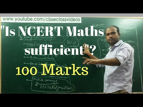 Is NCERT Mathematics sufficient for CBSE 11 & 12 Board exam