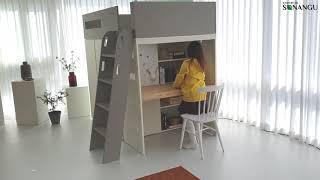 소낭구가구 아이방 키즈 이층침대 책상 옷장이 하나로!