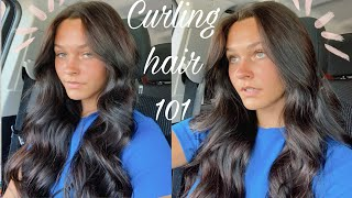 How I curl mỳ hair *easy tutorial*