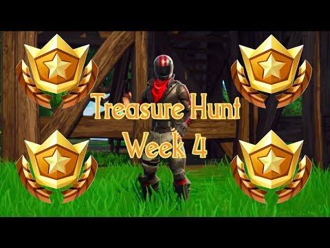 Week 4 Treasure Hunt Location!!!- Battle Pass Challenge Fortnite