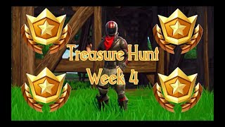 Week 4 Treasure Hunt Location!!! - Battle Pass Challenge Fortnite