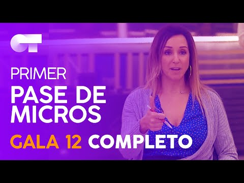 PRIMER PASE DE MICROS GALA 12 | OT 2020