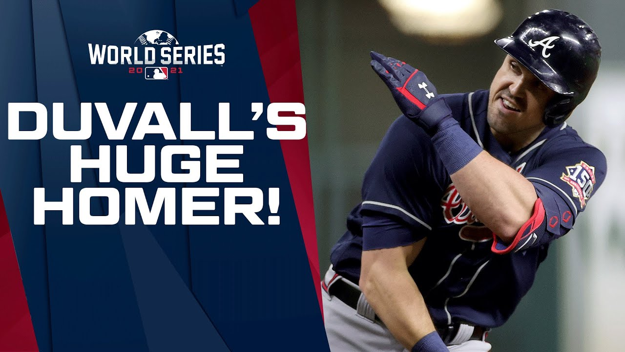 Download DUVALLL!!! Braves' Adam Duvall goes DEEP to make it 5-0 in World Series Game 1!