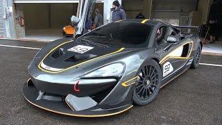McLaren 570S GT4 - LOUD Start Up, Revs, Accelerations on Track!