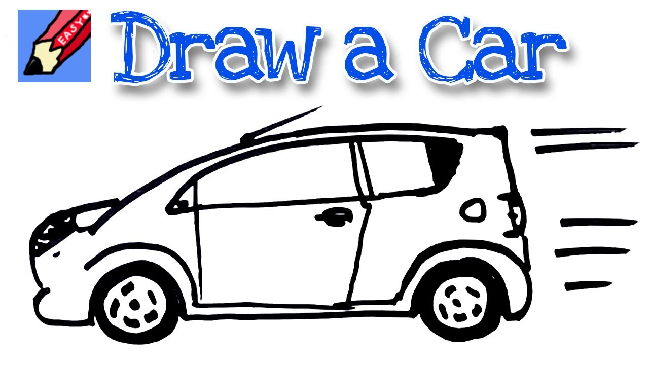 How to draw a car real easy - for kids and beginners - YouTube
