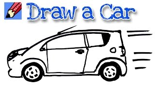 How to draw a car real easy - spoken tutorial