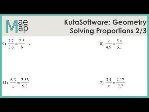 KutaSoftware: Geometry- Solving Proportions Part 2