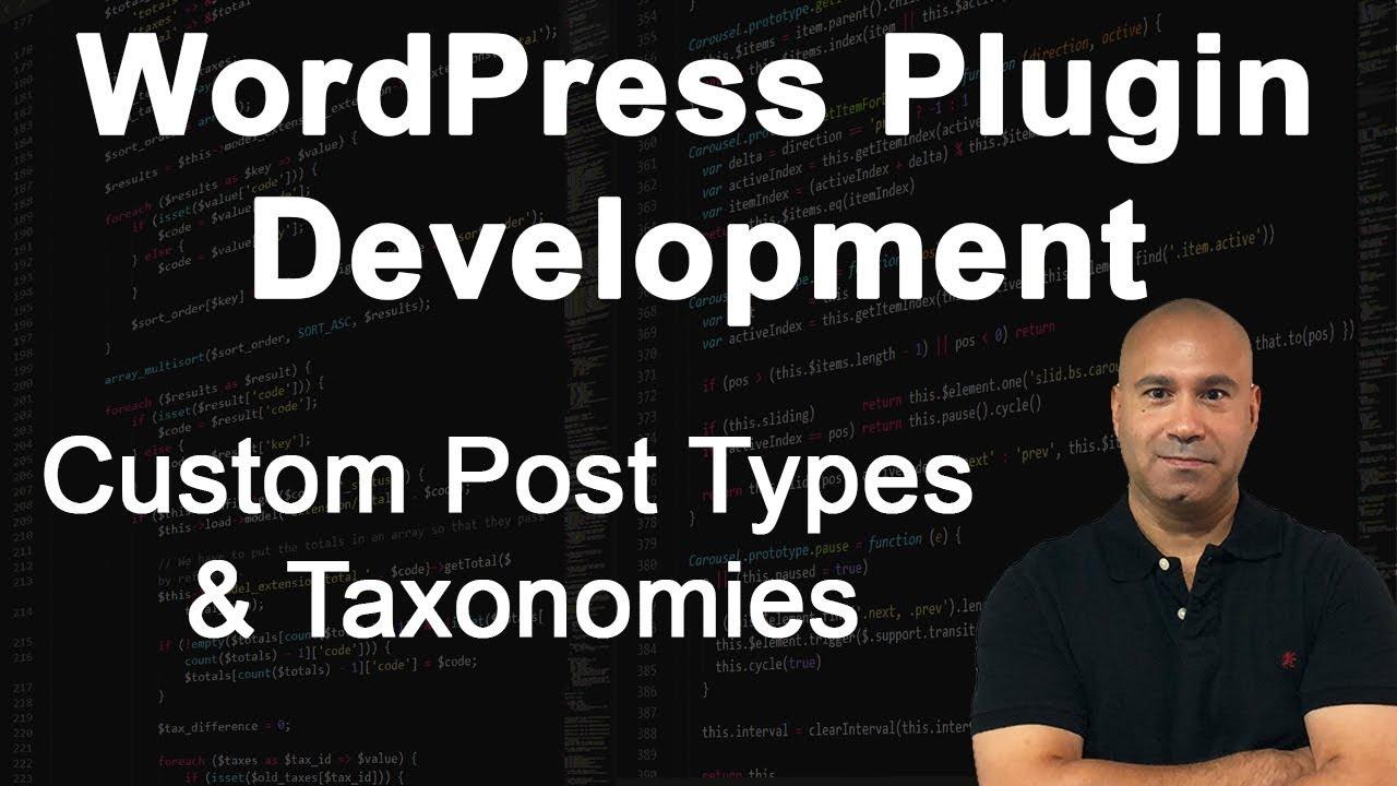 WordPress Plugin Development - Custom Post Types & Taxonomies Tutorial