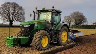 John Deere 7290r Ploughing With A Lemken JUWEL 8