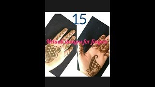 15 Quick and easy mehndi designs for fingers