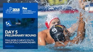 LIVE 🔴 | Water Polo - Day 5 - 4th FINA World Men's Youth Water Polo Championships 2018