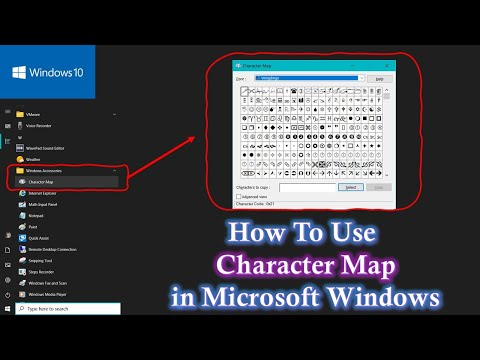 How to Use Character Map   Windows 10 / 8.1 / 8 / 7 / XP Tutorial